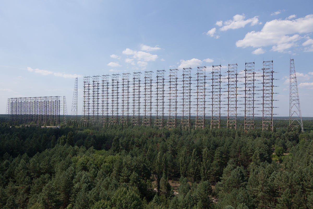 Duga Radar above the trees