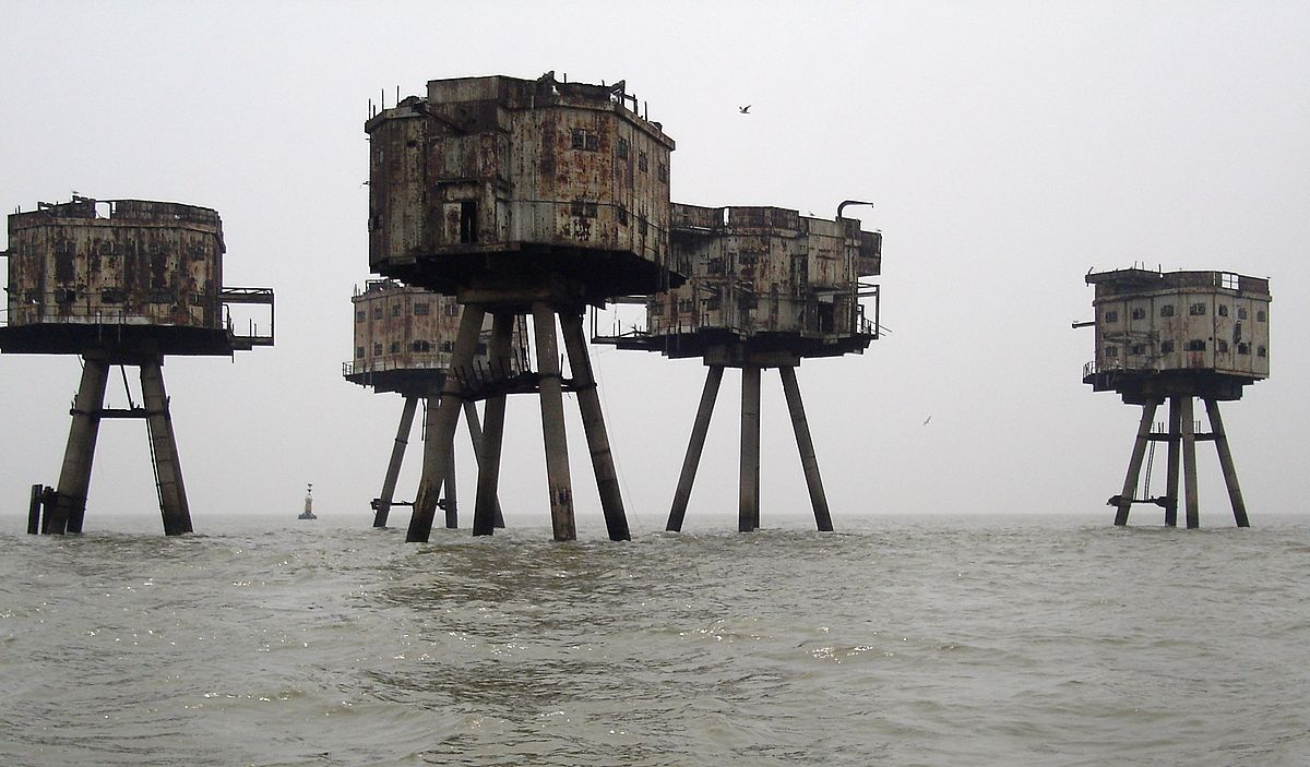 Maunsell Sea Forts, abandoned military base