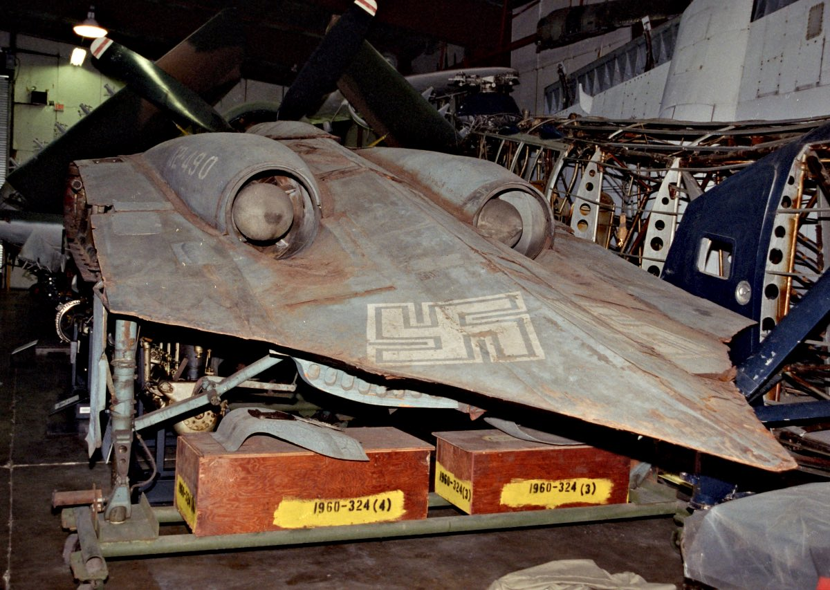 Horten Ho 229 at Smithsonian, rear of the aircraft