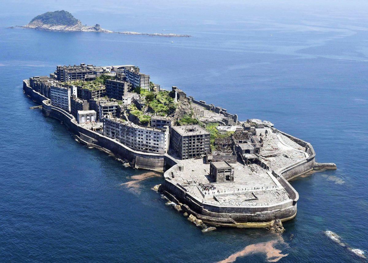 hashima, abandoned military bases