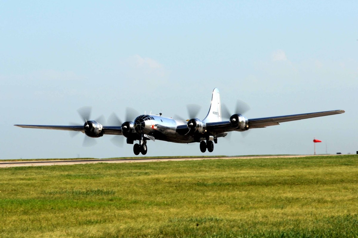 B-29 Superfortress landing in Little Rock