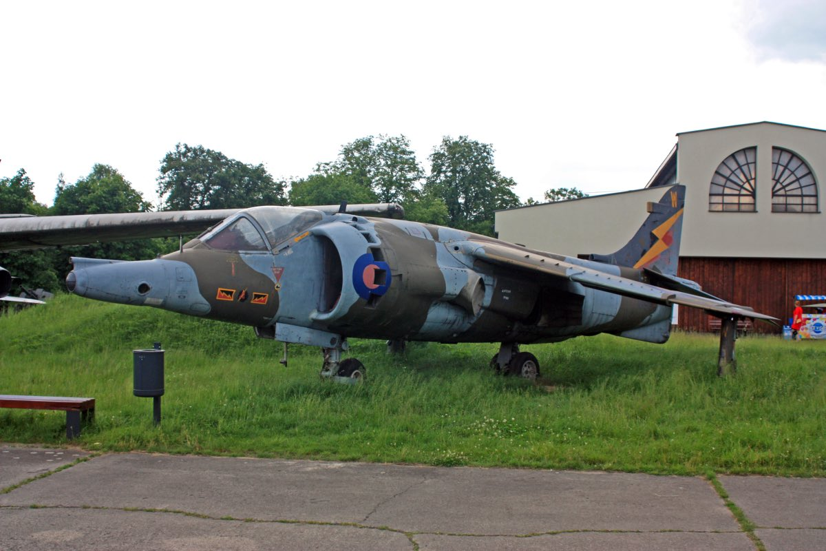 Hawker Siddeley Harrier GR.3 XW 919 from the collection of the Aviation Museum in Krakow. Aircraft for sale.