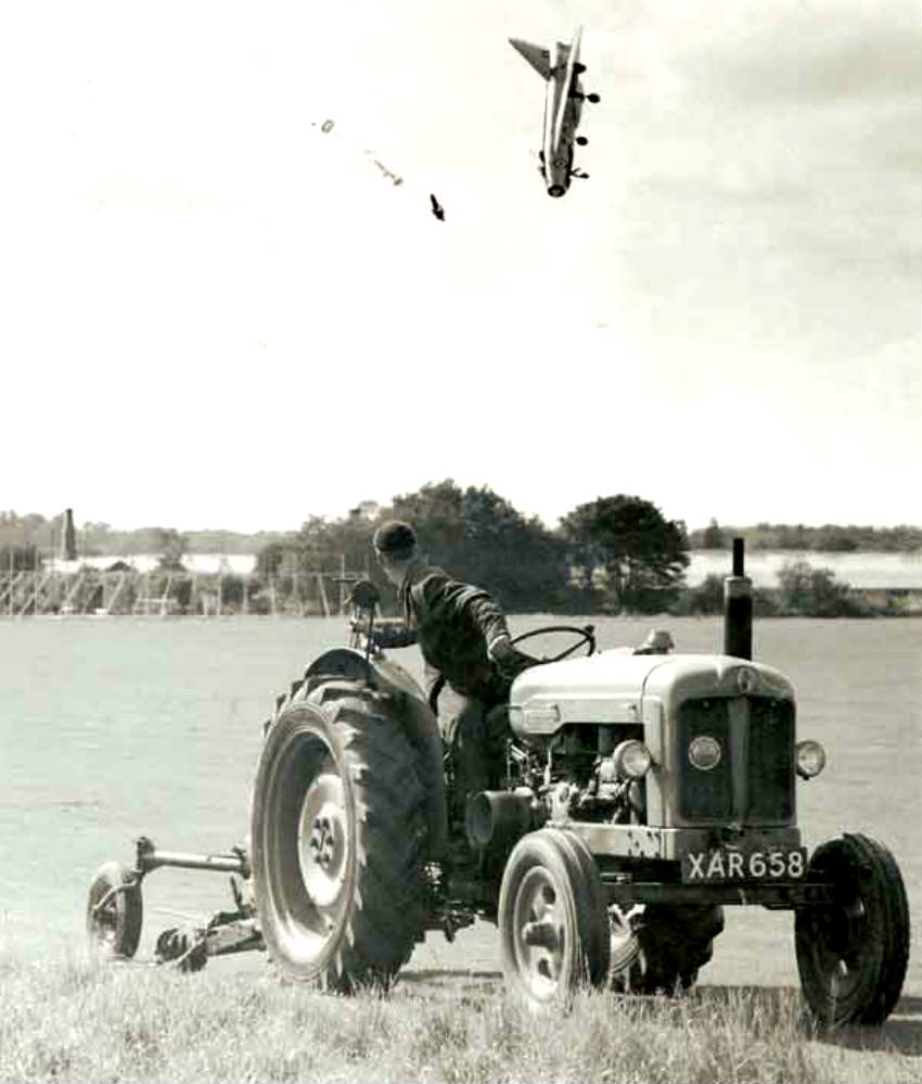 English Electric Lightning F1 Crash