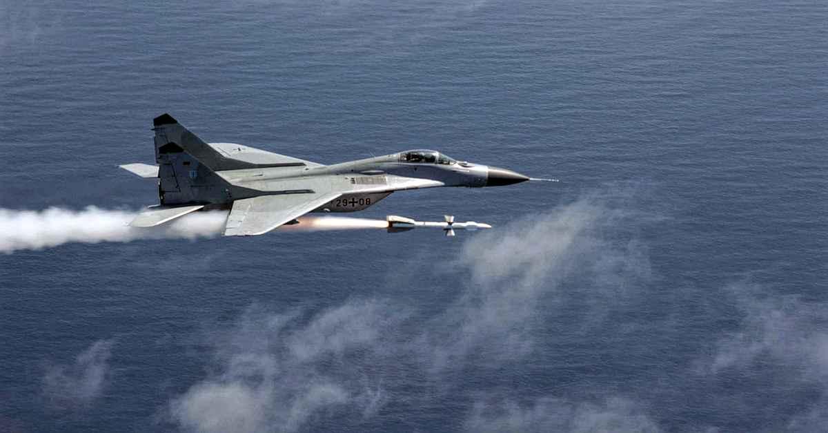 MiG-29 Fulcrum firing