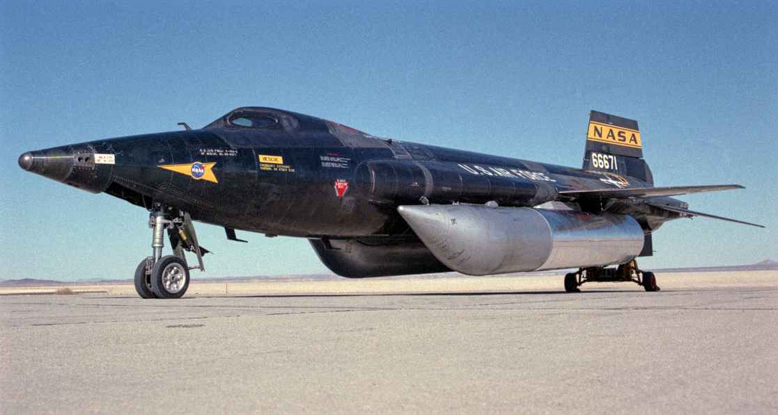North American X-15 with fuel tanks