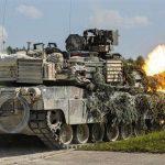 M1 Abrams firing