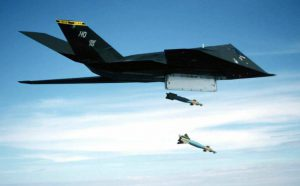 F-117 Drops Bombs