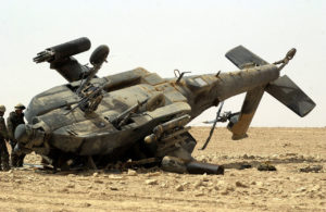 Damaged Ah-64 Apache