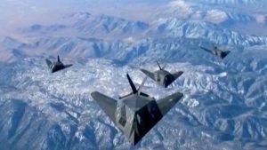 F-117 Nighthawks Flying