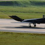 F-117 Landing with Drag Chute