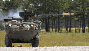 Stryker Land Vehicle Firing TOW missile