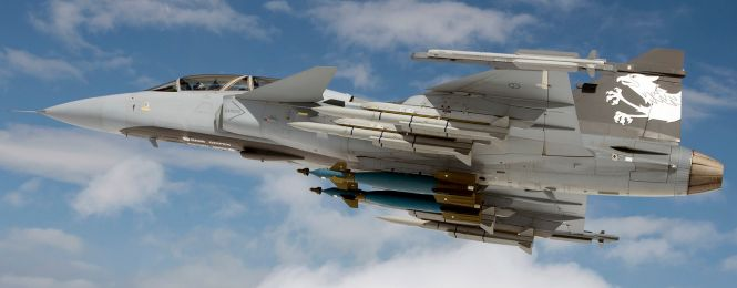 The Saab JAS 39 Gripen Air Superiority Fighter   Military