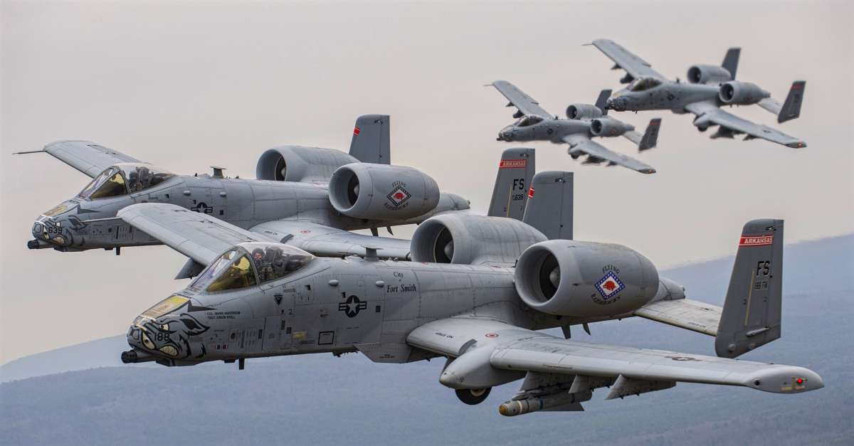 A-10 Warthogs in Formation
