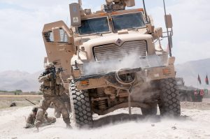 MRAP during firefight