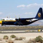 Fat Albert Aircraft lands