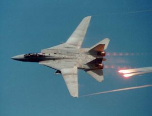 F-14 Fires Flares