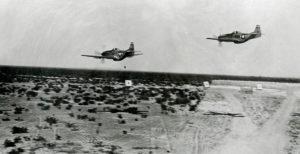 P-51 Mustangs over range