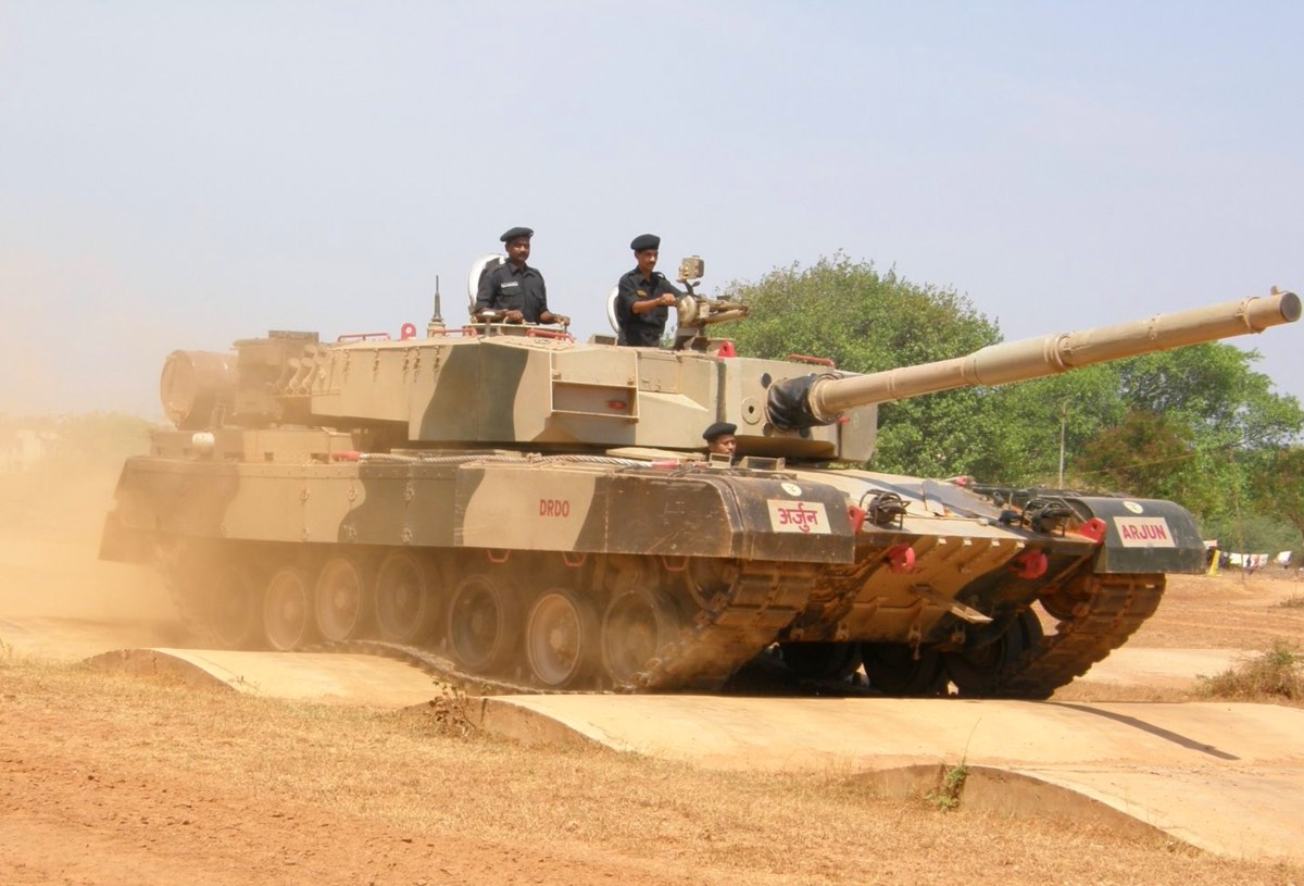 Arjun MBT during bump track test