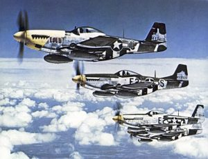 P-51 Mustang in Formation