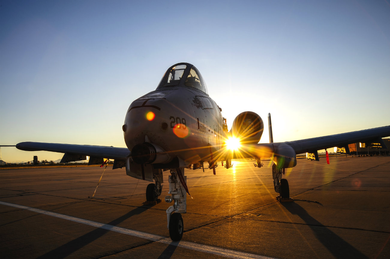 A-10 Aircraft Sunset