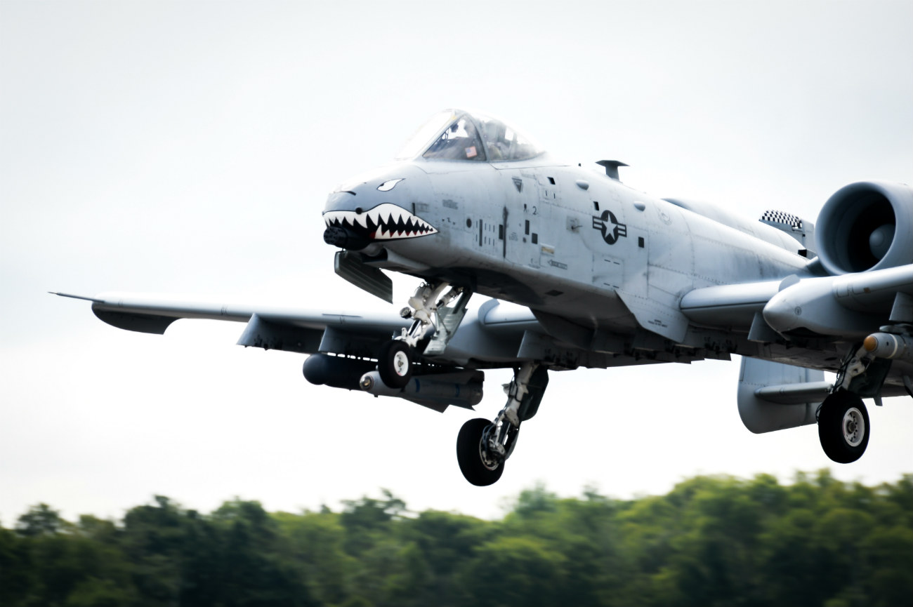 A-10 Aircraft prepares to land
