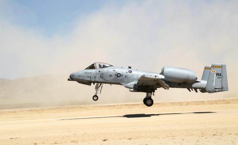 A-10 Aircraft sandy landing