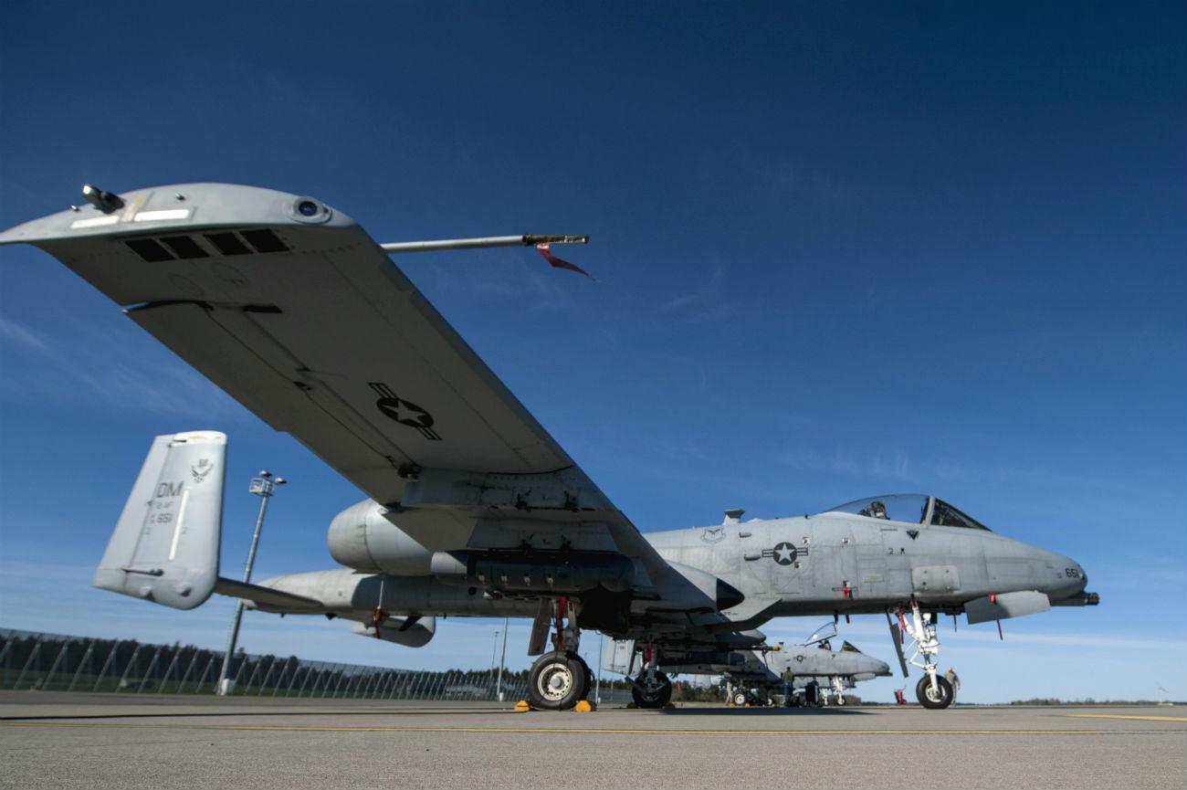 A-10 Thunderbolt Aircraft Parked