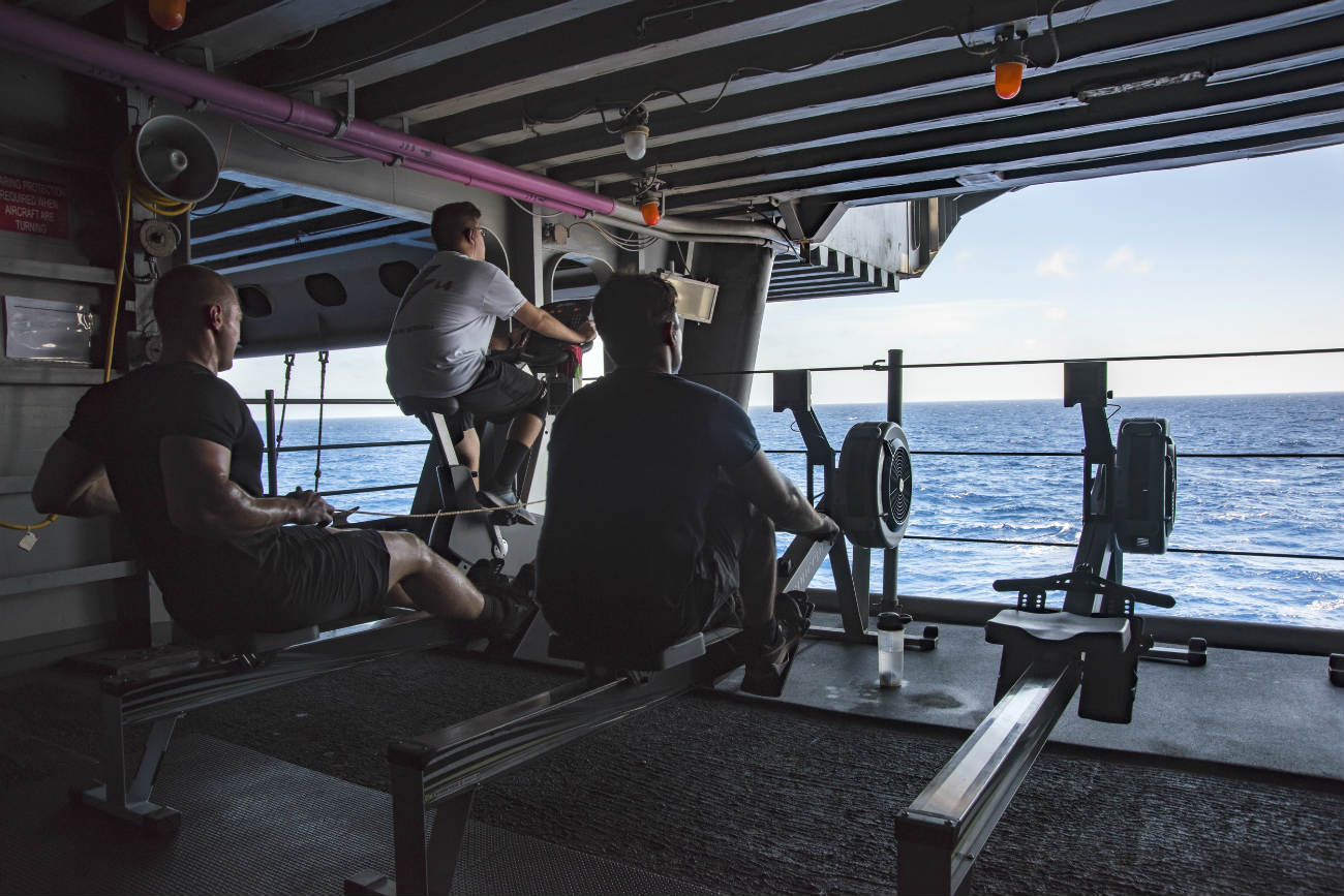 Aircraft carrier gym