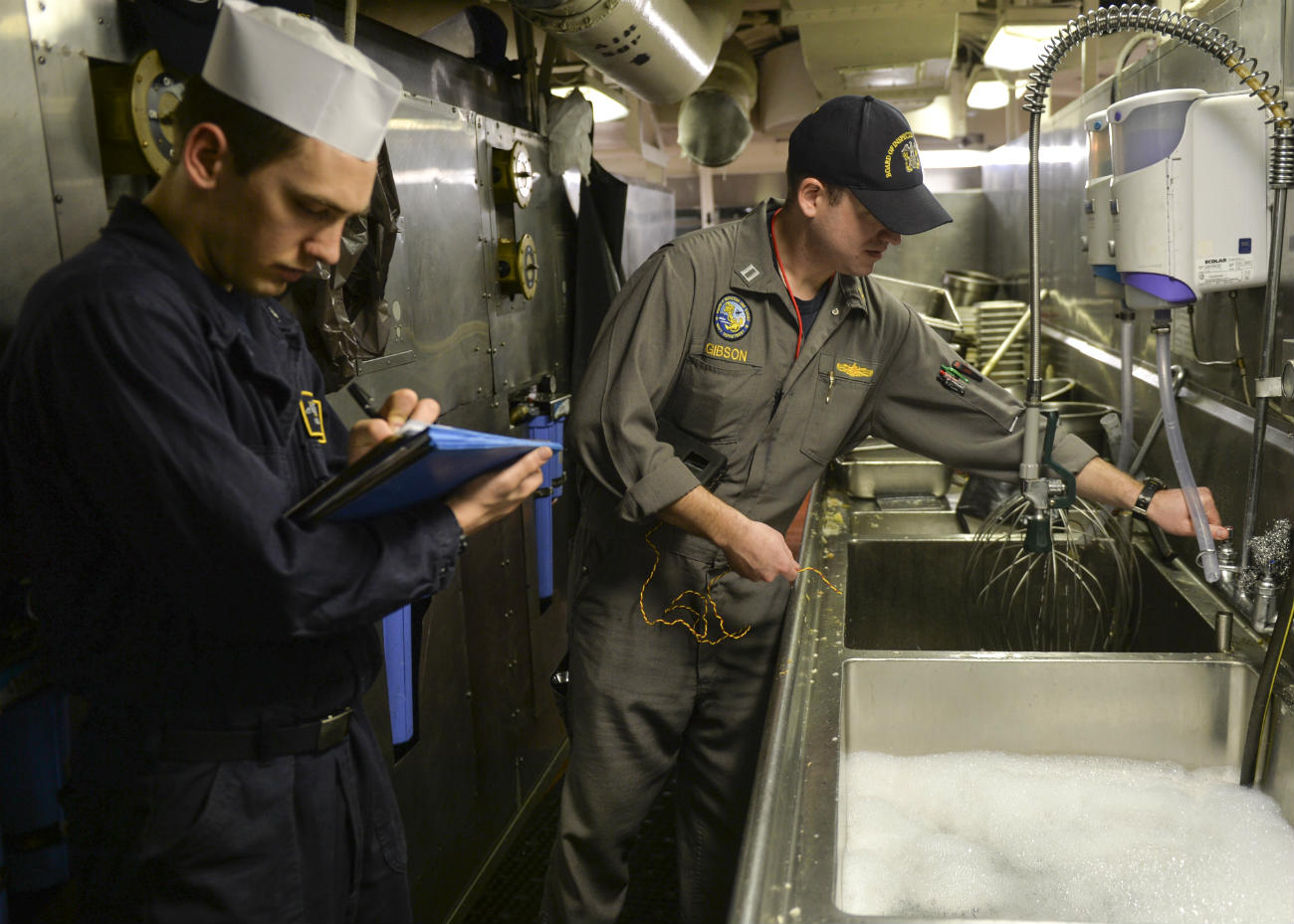 Aircraft carrier kitchen