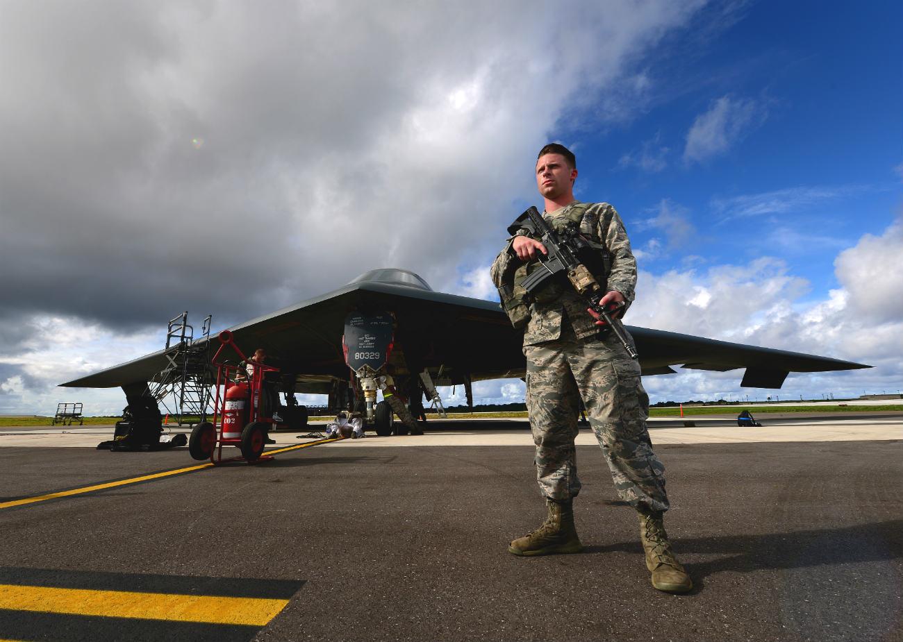 B-2 Spirit Aircraft Guarded