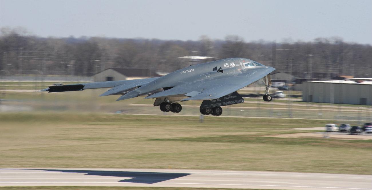 B-2 Spirit Aircraft Taking off