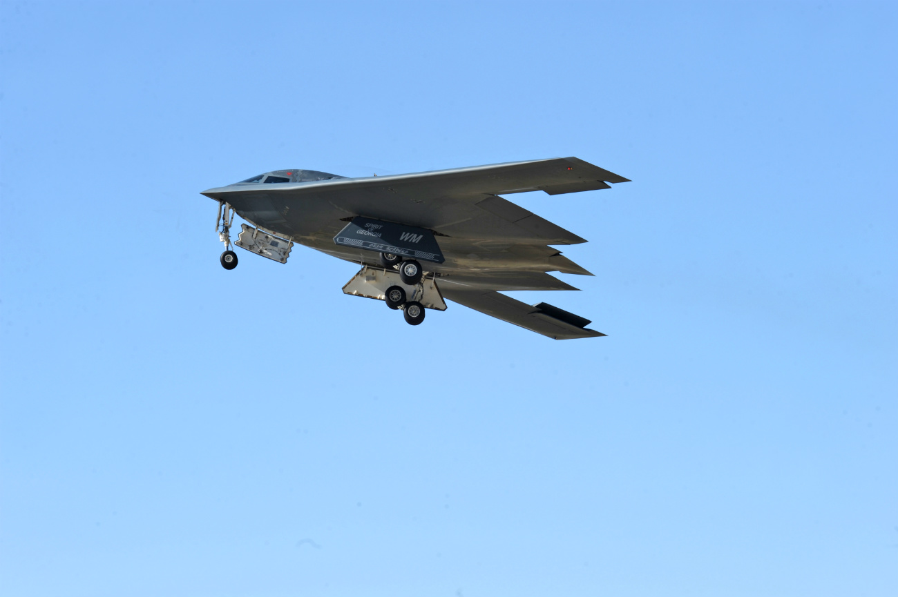 B-2 Spirit Aircraft Takoff air