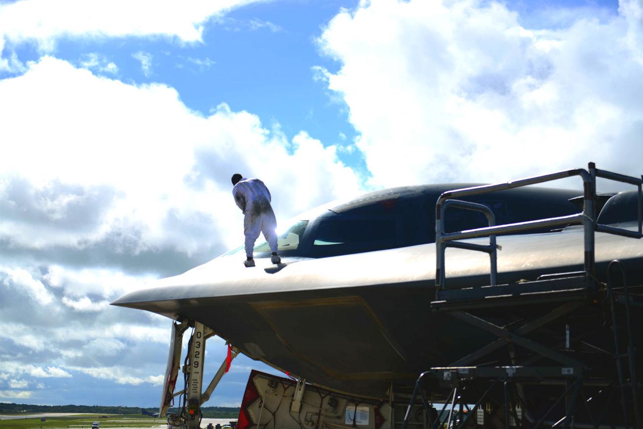 B-2 Spirit Bomber Windshield