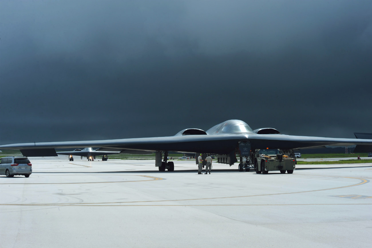 B-2 Spirit aircraft Cloudy