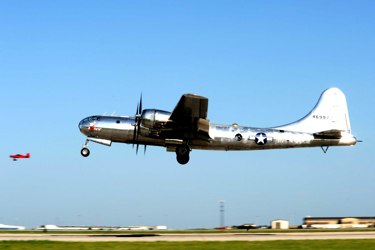 B-29 Superfortress takes off