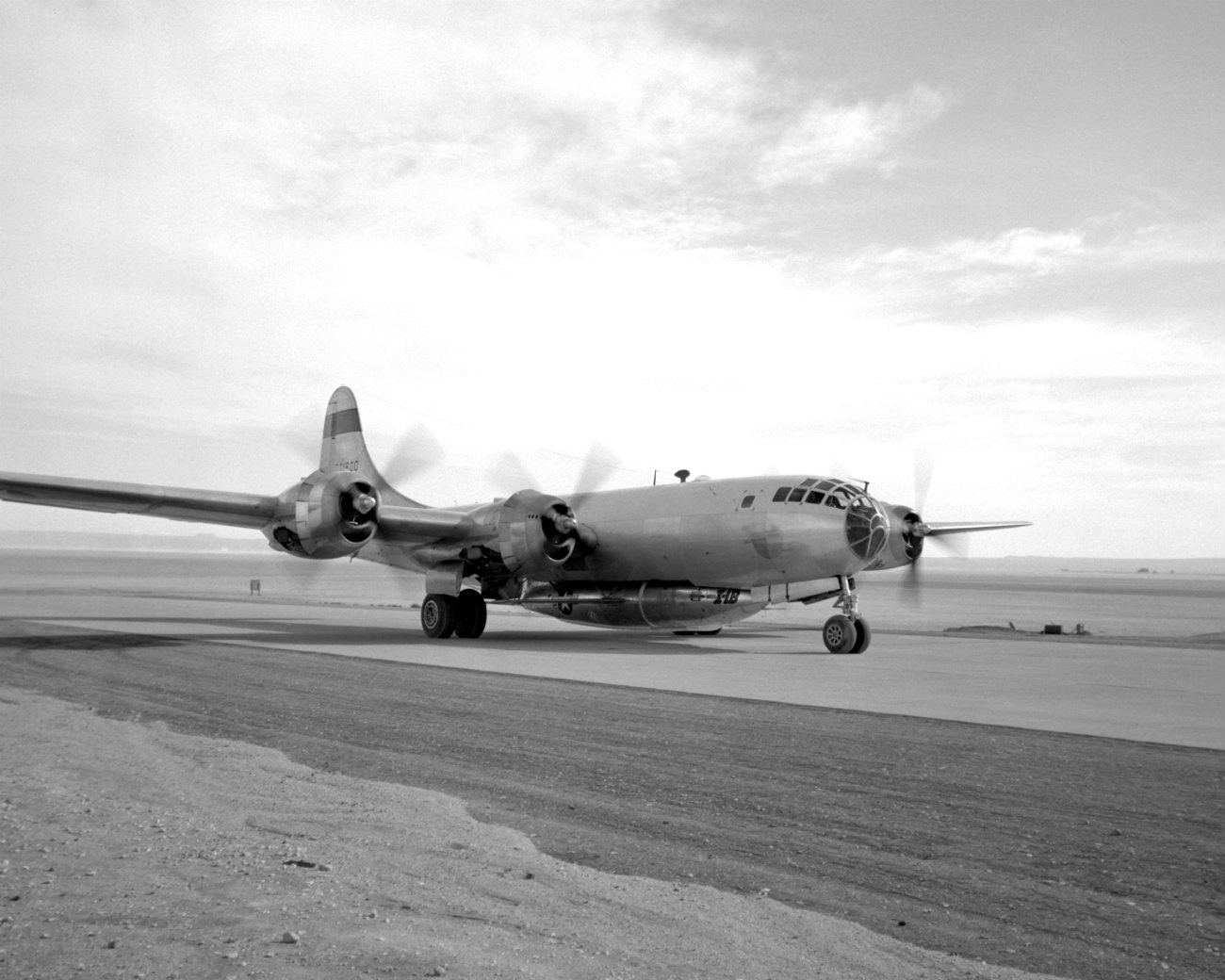 B-29 Superfortress images Taxi attached aircraft