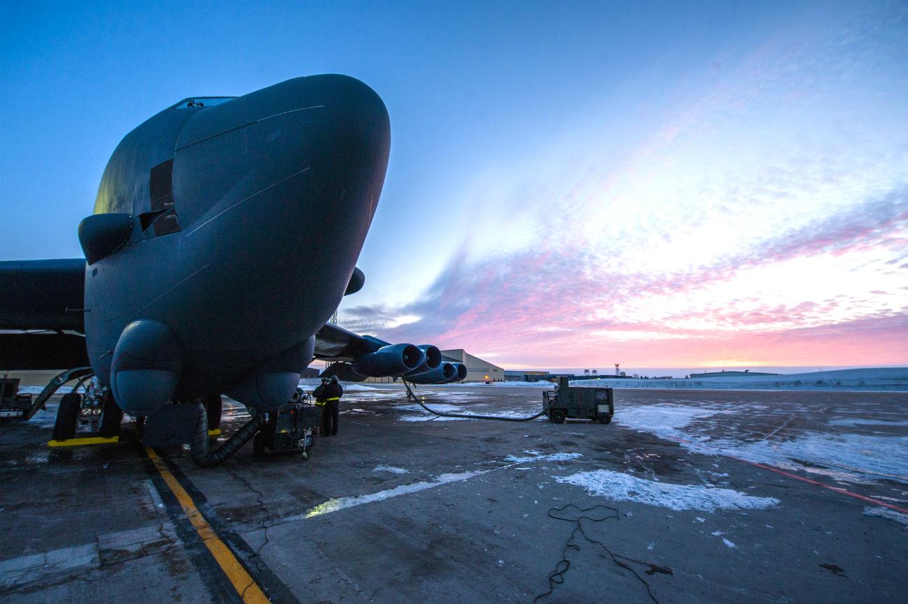 B-52 Images Aircraft Dusk
