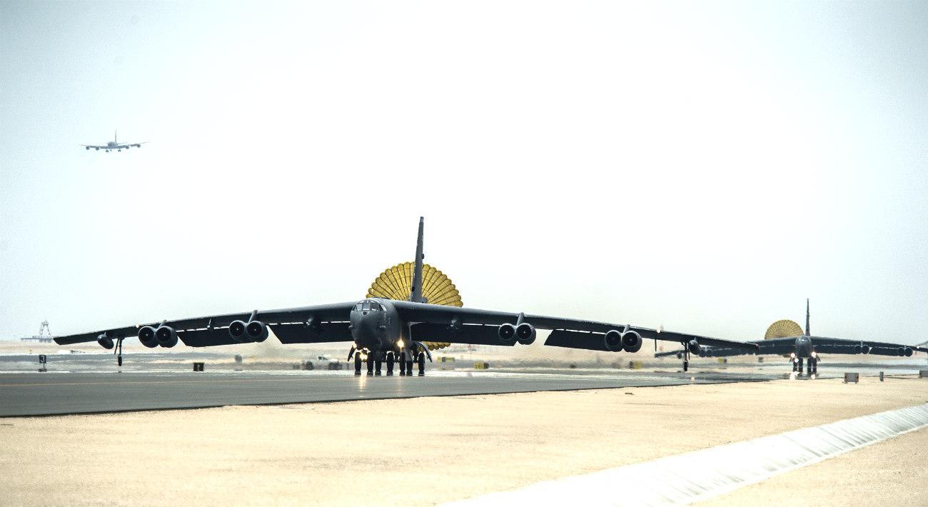 B-52 Aircraft Parachute Taxi
