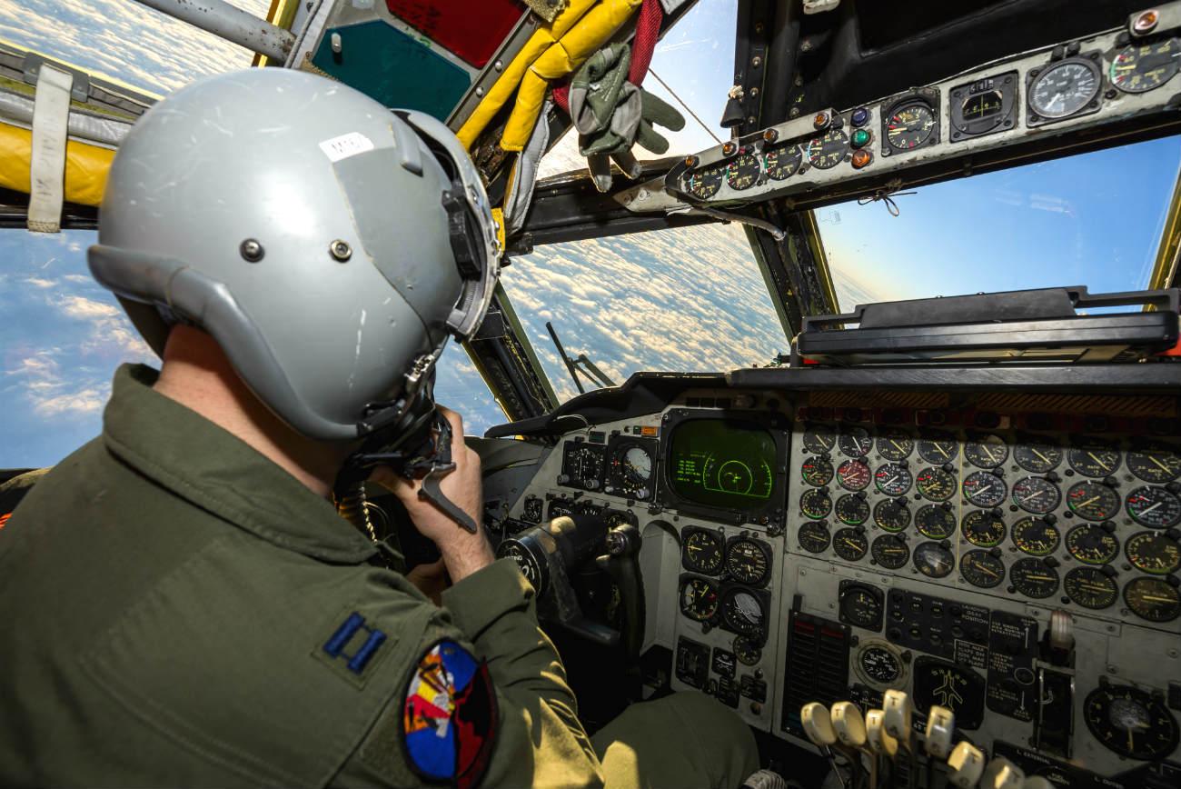 B-52 Aircraft Pilot Cockpit