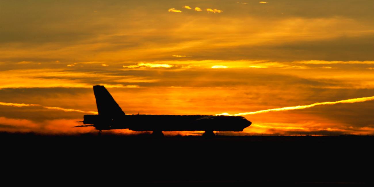 B-52 Aircraft Sunset