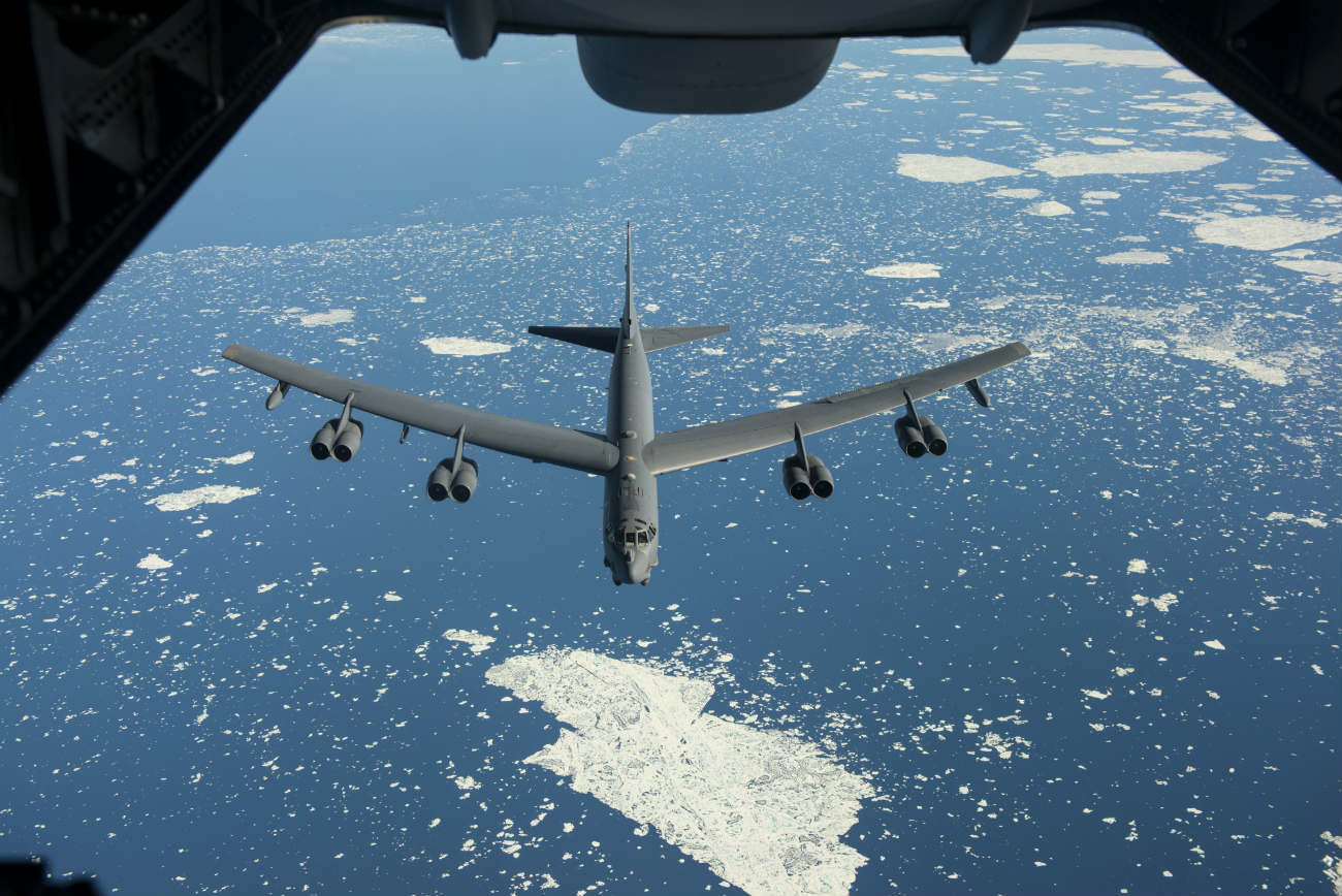 B-52 Images Stealth Bomber Refuel