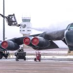 B-52 Stealth Bomber icy preflight