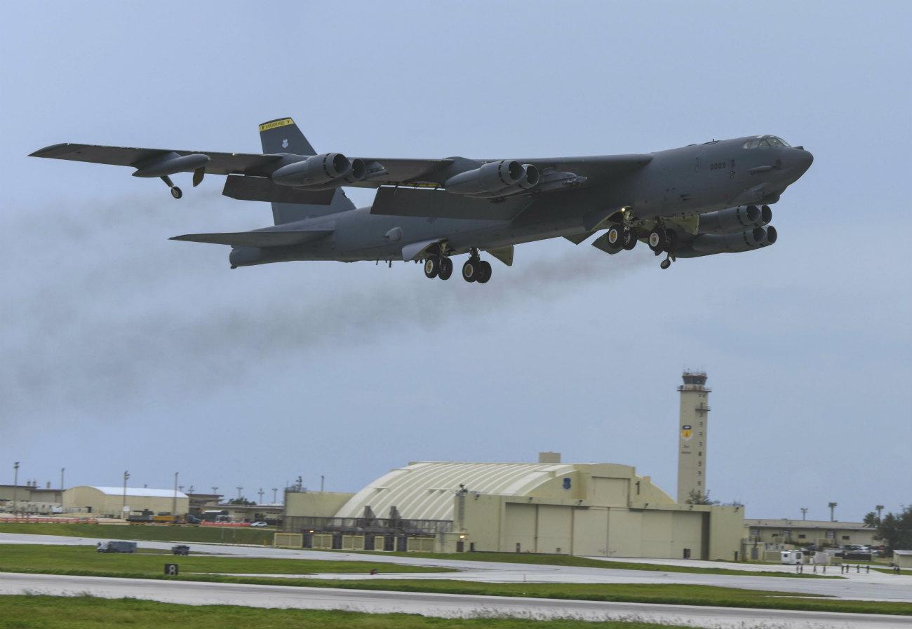 B-52H Aircraft Taking off
