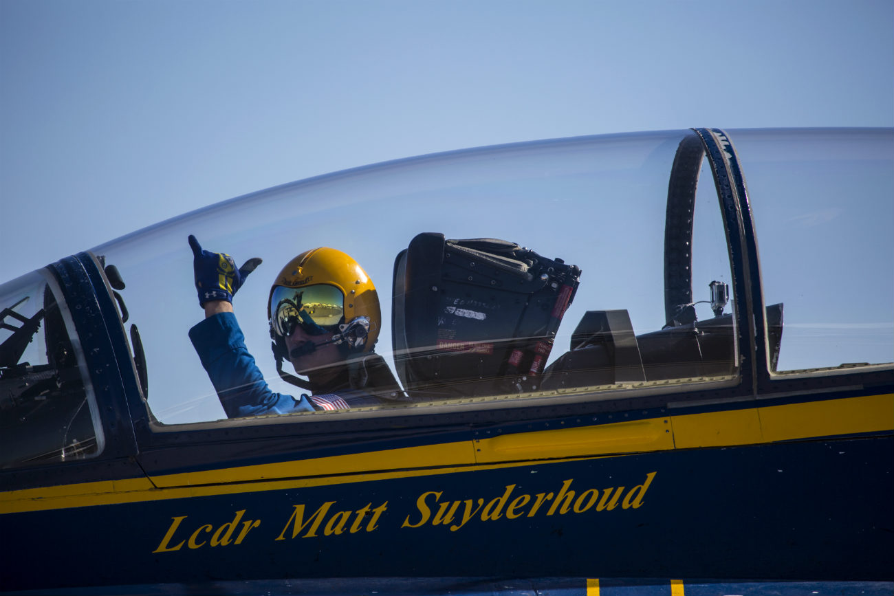 Blue Angel Pilot before takeoff