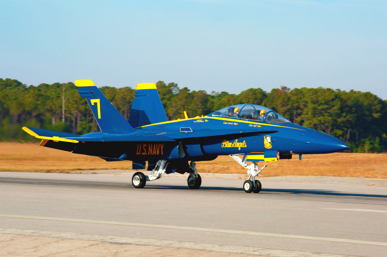 Blue Angel prepares for take off