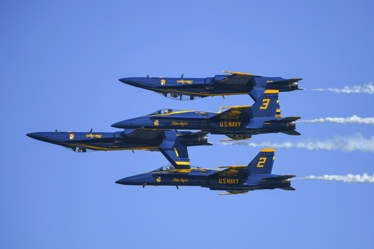 Blue Angels Group tricks