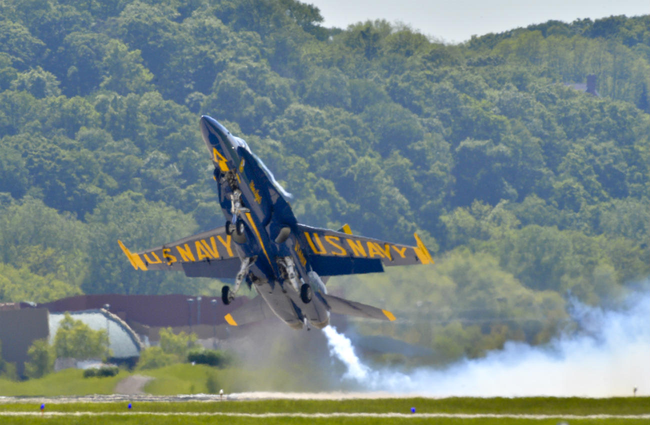 Blue angels fast takeoff