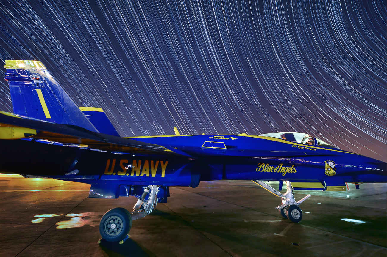 Blue angels night shot