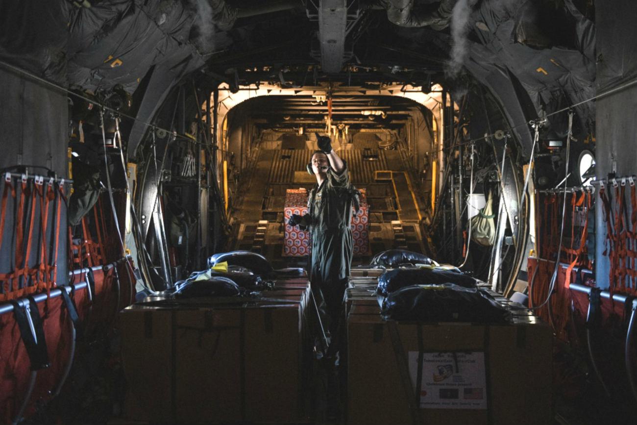 C-130 Aircraft Back