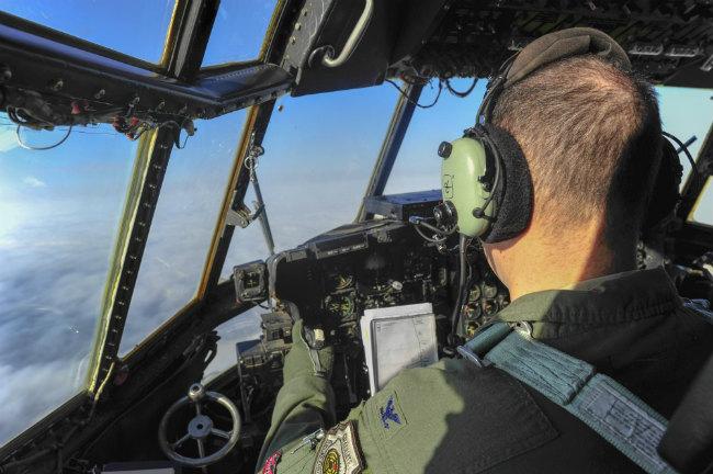 C-130 Aircraft cockpit